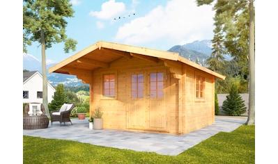 WOLFF FINNHAUS Gartenhaus »Nordkap 70 - A«, BxT: 410x470 cm, inkl. Fußboden kaufen