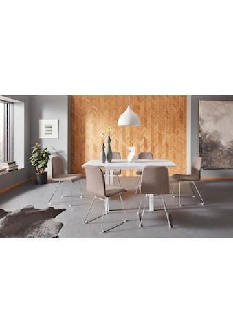 Places of Style Esstisch »Cora«, mit einer Auszugsfunktion, aus schönem Massivholz kaufen