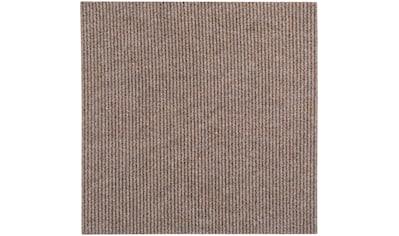 Andiamo Teppichfliese »Rippe«, rechteckig, 4 mm Höhe, 4 Stück (1 m²), selbstklebend, für Stuhlrollen geeignet kaufen