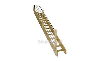 STARWOOD Raumspartreppe »Korfu«, offene Stufen, gerade, Holz - Edelstahlgeländer links kaufen