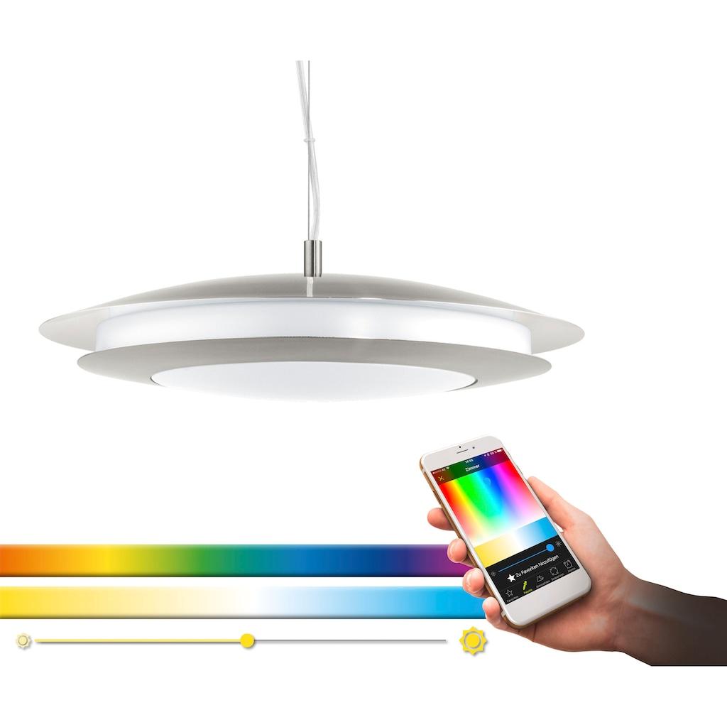 EGLO Pendelleuchte »MONEVA-C«, LED-Board, Warmweiß-Tageslichtweiß-Neutralweiß-Kaltweiß, Hängeleuchte, EGLO CONNECT, Steuerung über APP + Fernbedienung,BLE, CCT, RGB, dimmbar, Smart Home, Farbwechsel