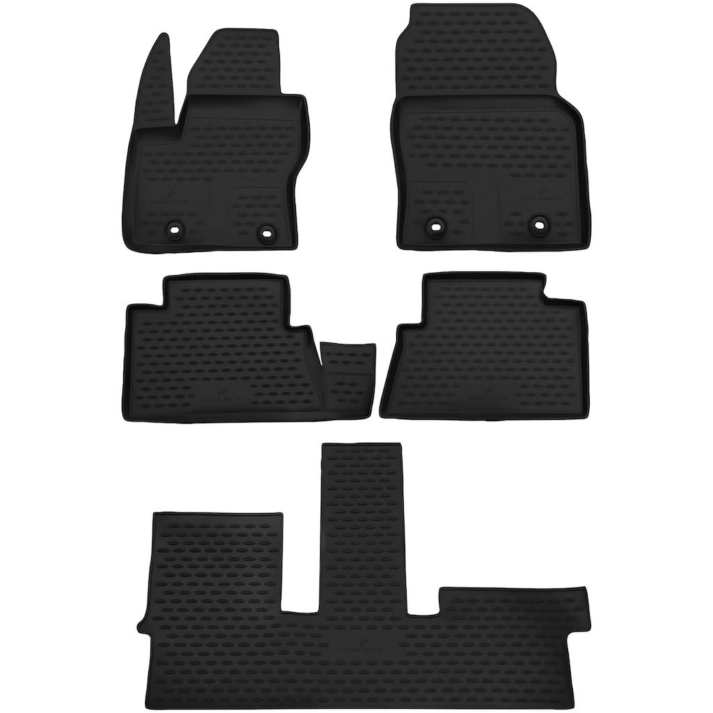 WALSER Passform-Fußmatten »XTR«, (4 St.), für Dacia Logan II Bj 10/2012 - Heute