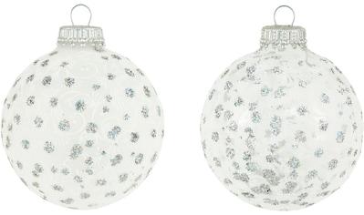 Krebs Glas Lauscha Weihnachtsbaumkugel »CBK830056A«, (Set, 8 St.), mit Glitterdekor kaufen