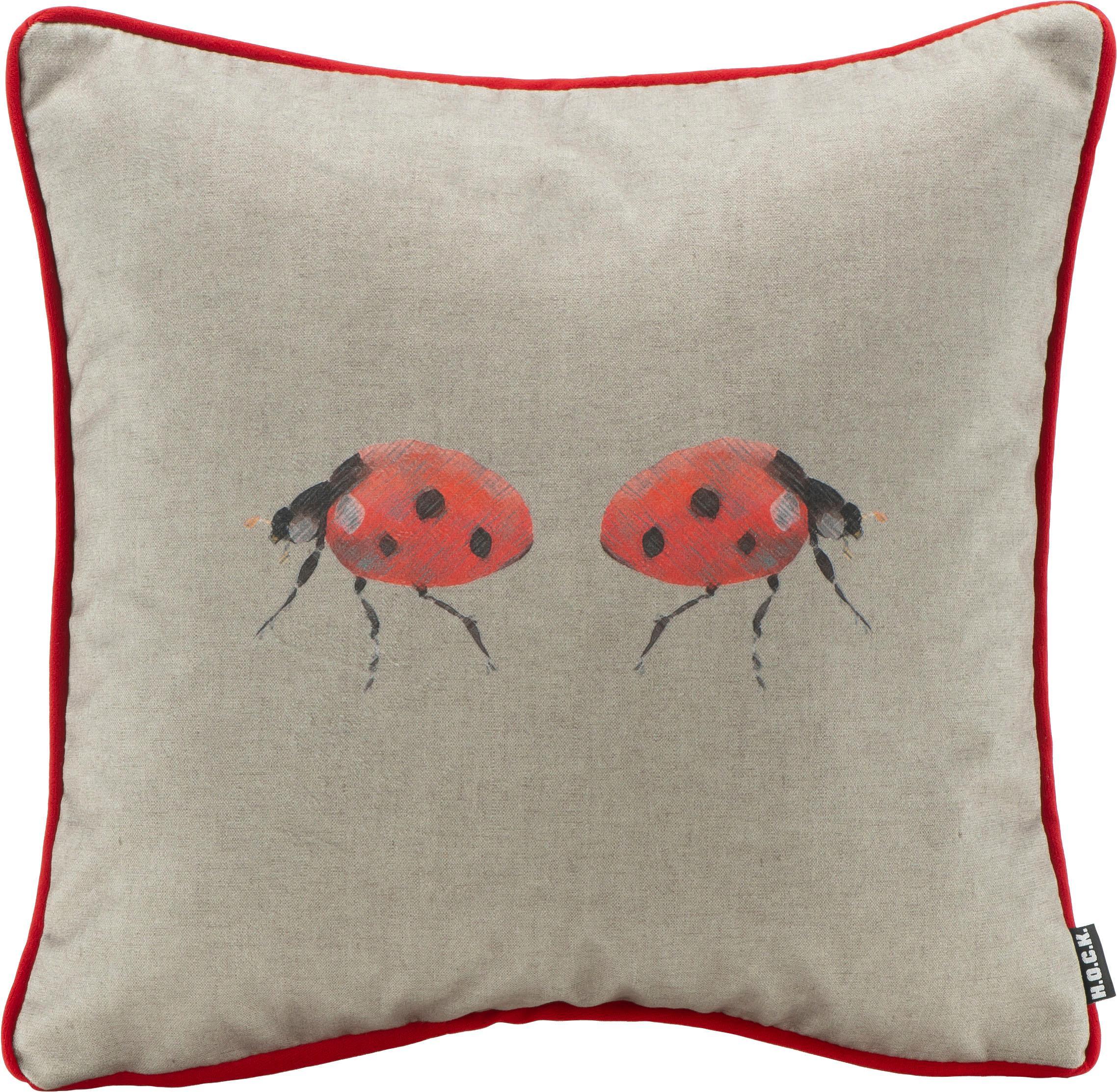 Hock Kissen Bugs Marienkäfer 45/45 cm