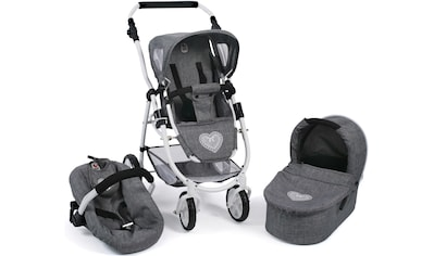 CHIC2000 Kombi-Puppenwagen »Emotion All In 3in1, Jeans Grey«, inkl. Babywanne,... kaufen