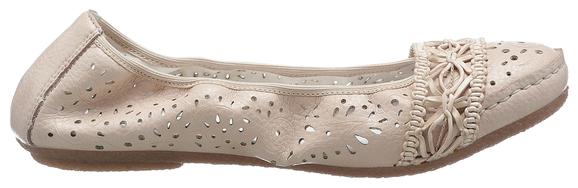 Details zu Ballerina Rieker Damenmode Ballerinas Damen Schuhe Gepolsterte Lederinnensohle