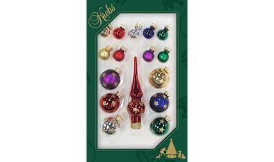Krebs Glas Lauscha Weihnachtsbaumkugel »CBK76515«, (Set, 16 St.), Minikugelsortiment... kaufen