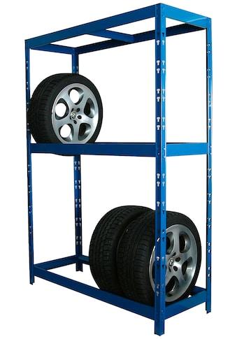 SZ METALL Schwerlastregal, B/T/H: 130x50x180 cm, für 12 Reifen, höhenverstellbar kaufen