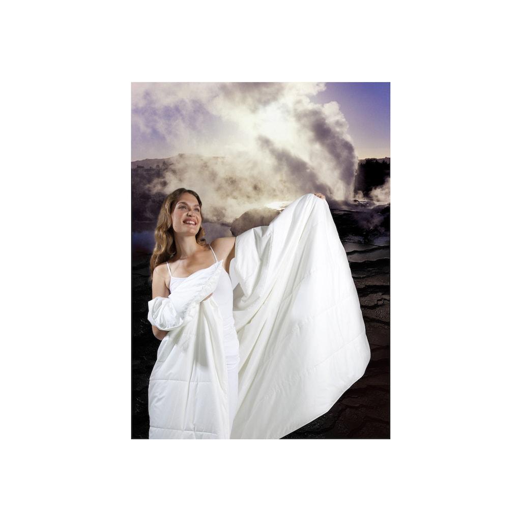 Centa-Star Kunstfaserbettdecke »Famous«, leicht, Bezug 100% Baumwolle, (1 St.), Bezug mit spezieller, temperaturregulierender Mikrofaser