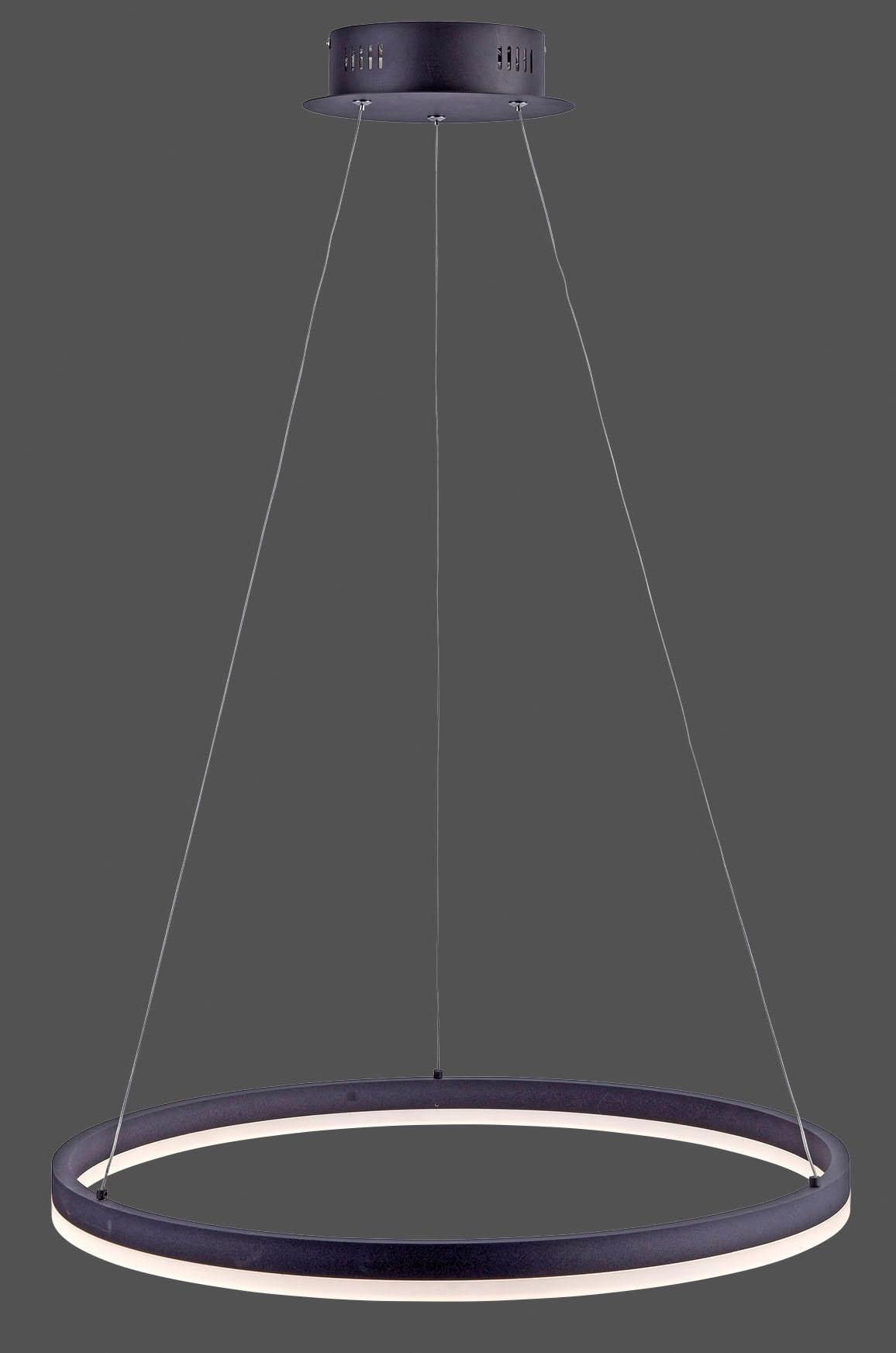 Paul Neuhaus Pendelleuchte TITUS, LED-Board, Warmweiß, Hängeleuchte, stufenlos dimmbar, mit fest integriertem LED-Leuchtmittel, Memoryfunktion, 60 cm Durchmesser
