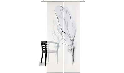 Schiebegardine, »Konturfeder«, emotion textiles, Klettband 2 Stück kaufen