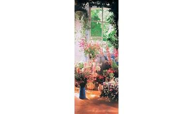 Papermoon Fototapete »Sweet Peas in Door - Türtapete«, matt, Vlies, 2 Bahnen, 90 x 200 cm kaufen