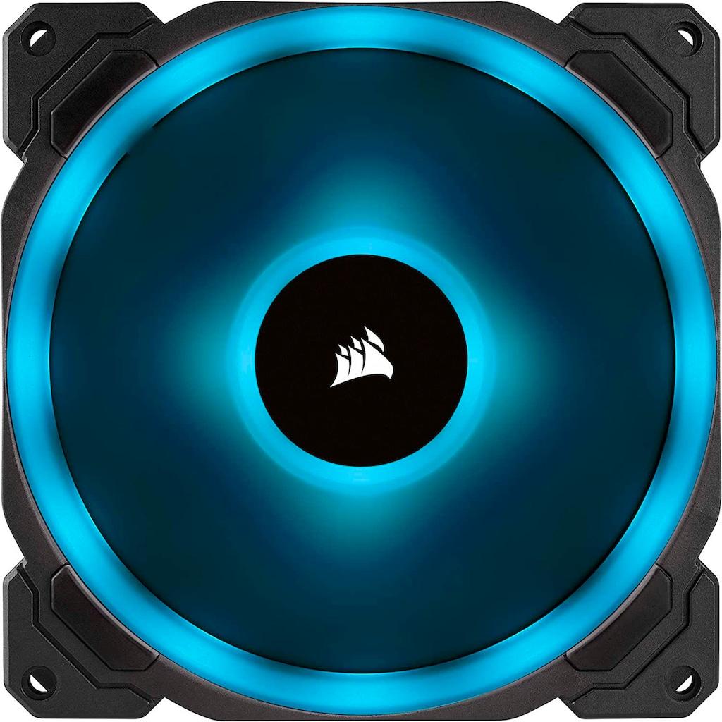 Corsair Computer-Kühler »Corsair LL140 RGB LED PWM PC-Gehäuselüfter (140mm Dual Licht Loop RGB LED, Zweierpack mit Lighting Node PRO) schwarz«