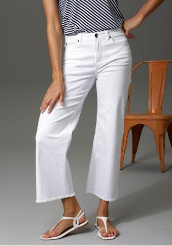 Aniston CASUAL 7/8-Jeans, mit leicht ausgefranstem Beinabschluss kaufen