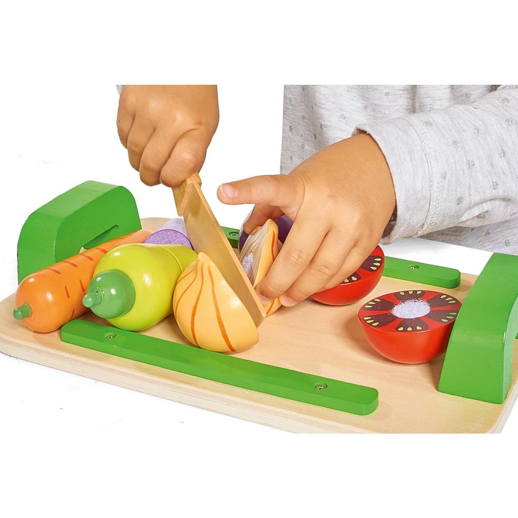 Eichhorn Spiellebensmittel »Holztablett mit Gemüse«