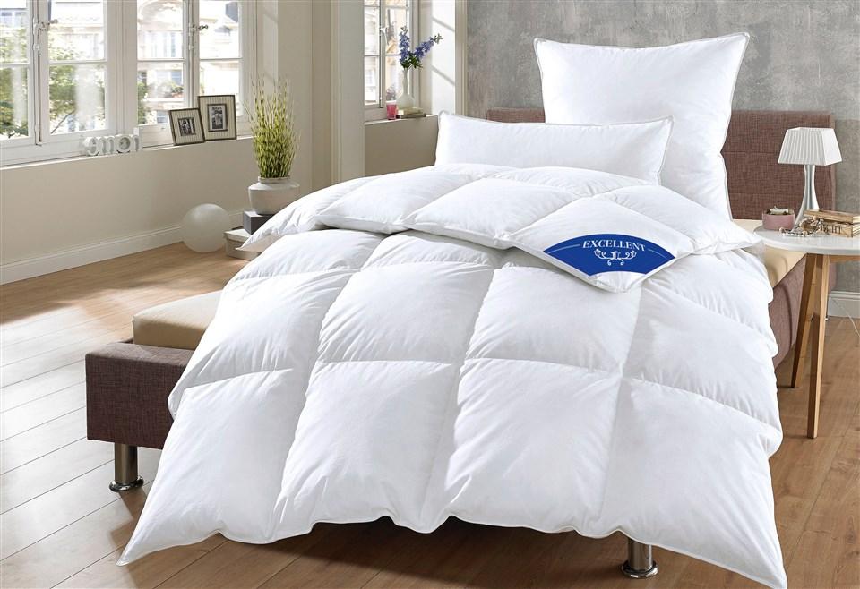 Daunenbettdecke Komfort Excellent warm Füllung: 60% Daunen 40% Federn Bezug: 100% Baumwolle