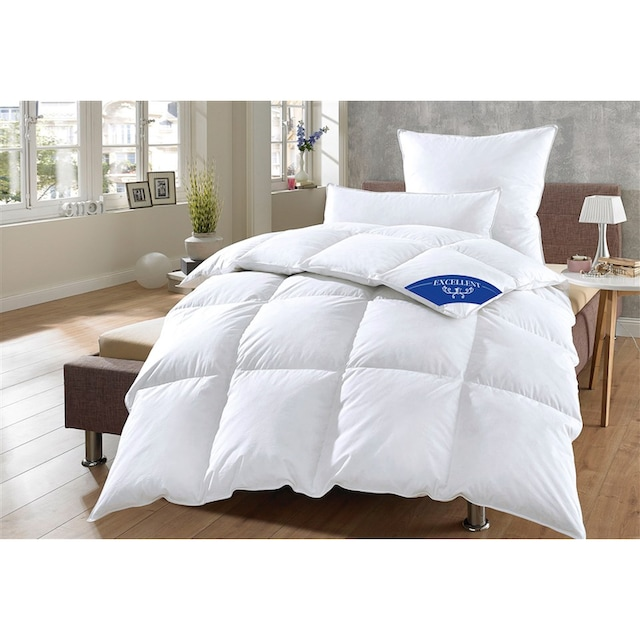 Daunenbettdecke, »Komfort«, Excellent, Füllung: 60% Daunen, 40% Federn, Bezug: 100% Baumwolle