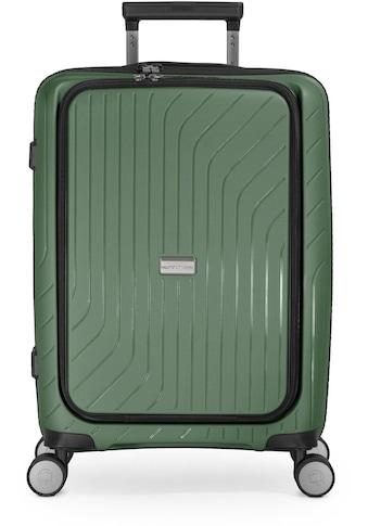 Hauptstadtkoffer Hartschalen-Trolley »TXL, 55 cm, dunkelgrün«, 4 Rollen, mit separatem... kaufen