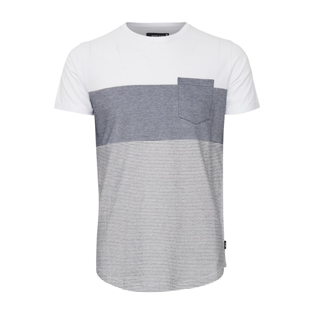 Indicode T-Shirt »Morler«, T-Shirt im Colorblock-Look