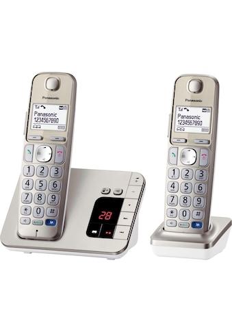 Panasonic »KX - TGE222GN« Schnurloses DECT - Telefon (Mobilteile: 2) kaufen