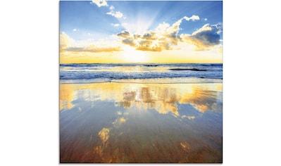 Artland Glasbild »Sonnenaufgang über dem Ozean«, Himmel, (1 St.) kaufen