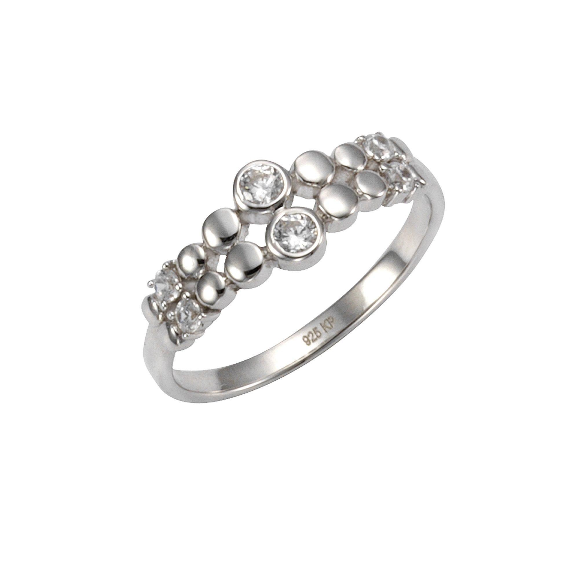 CELESTA Ring 925/- Sterling Silber Zirkonia | Schmuck > Ringe > Silberringe | Celesta