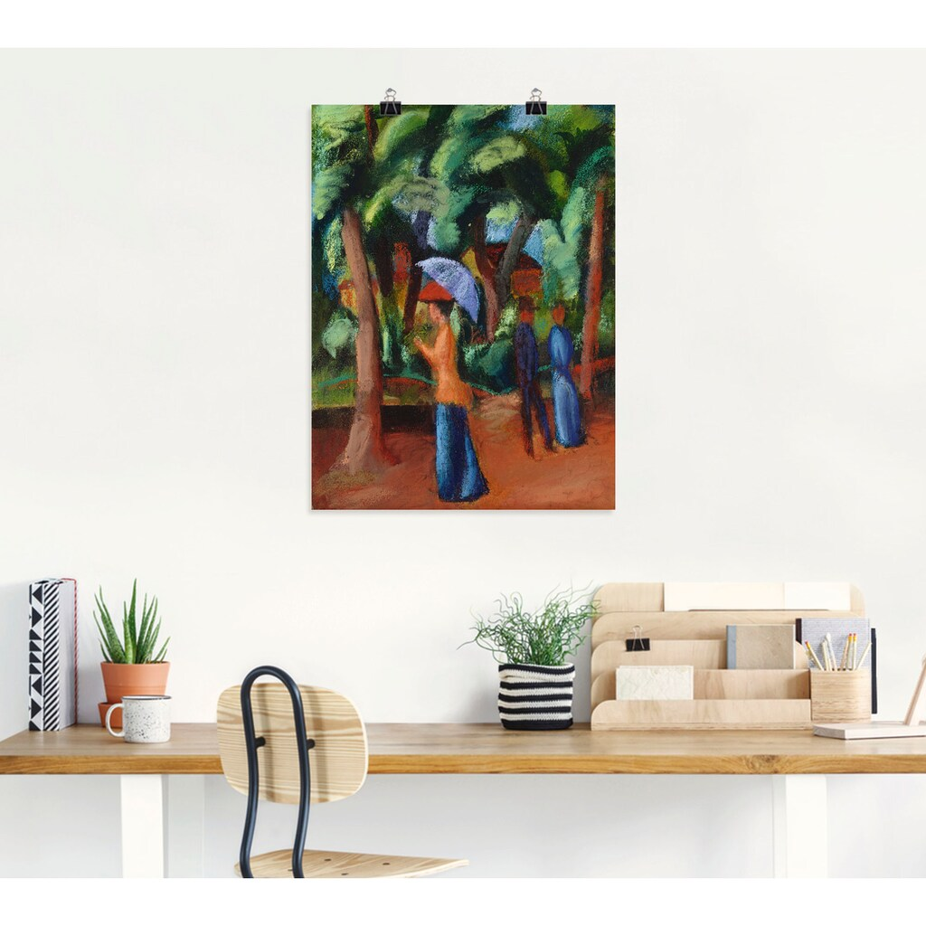 Artland Wandbild »Spaziergang im Park. 1914«, Gruppen & Familien, (1 St.), in vielen Größen & Produktarten -Leinwandbild, Poster, Wandaufkleber / Wandtattoo auch für Badezimmer geeignet