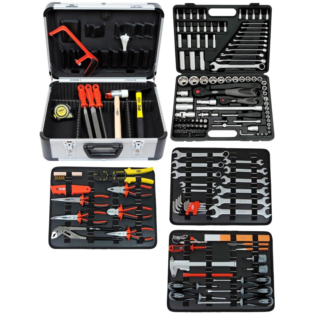 FAMEX Werkzeugset »719-44«, (Set, 214 St.), im Werkzeugkoffer
