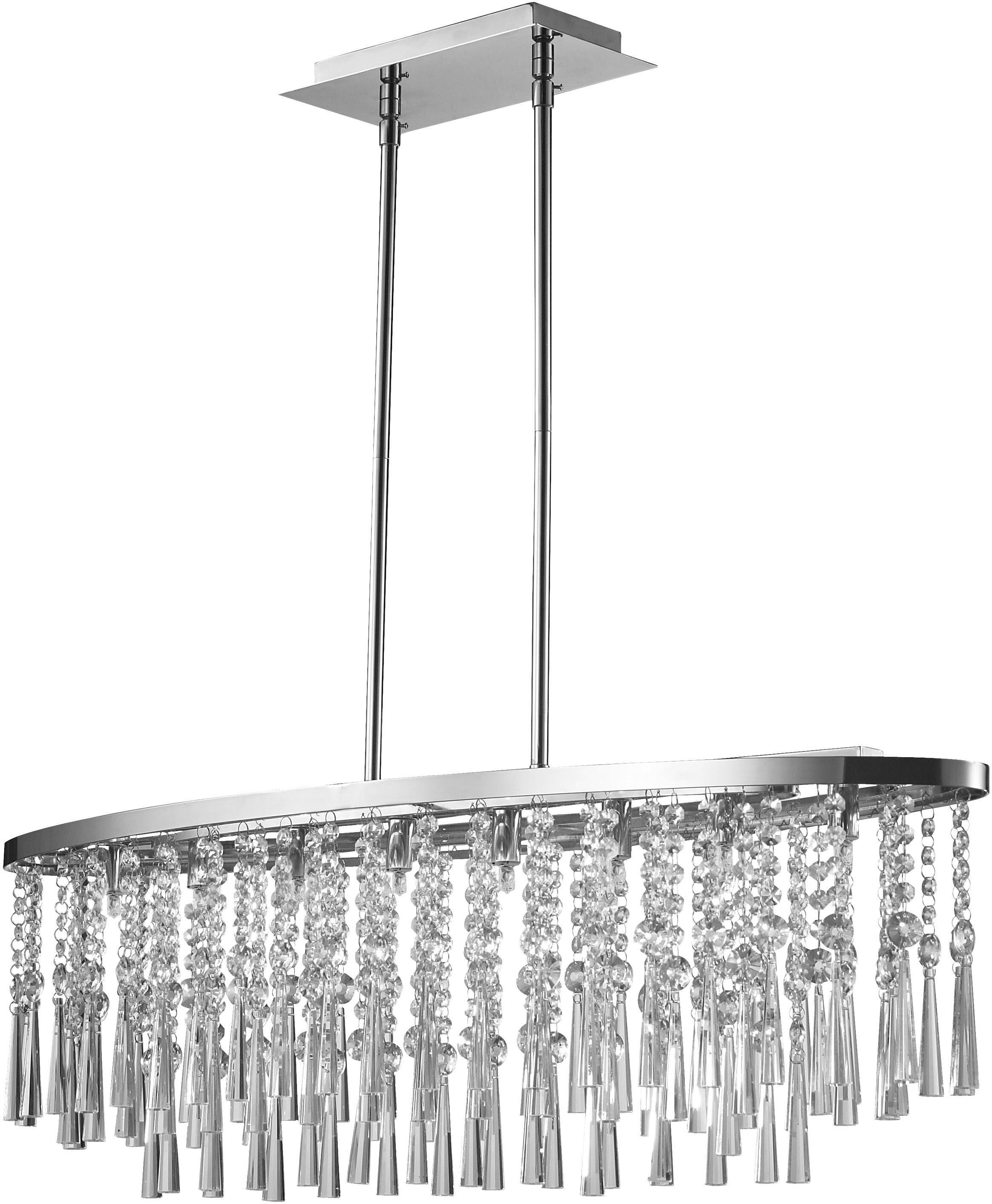 SPOT Light Pendelleuchte LUXORIA, G9, Warmweiß, Hängeleuchte, Hochwertige Leuchte mit echtem Kristallen, LED-Leuchtmittel inklusive, Zeitlos und elegant.