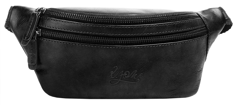 X-Zone Gürteltasche, vegetabil gegerbt schwarz Damen Handtaschen Taschen Gürteltasche