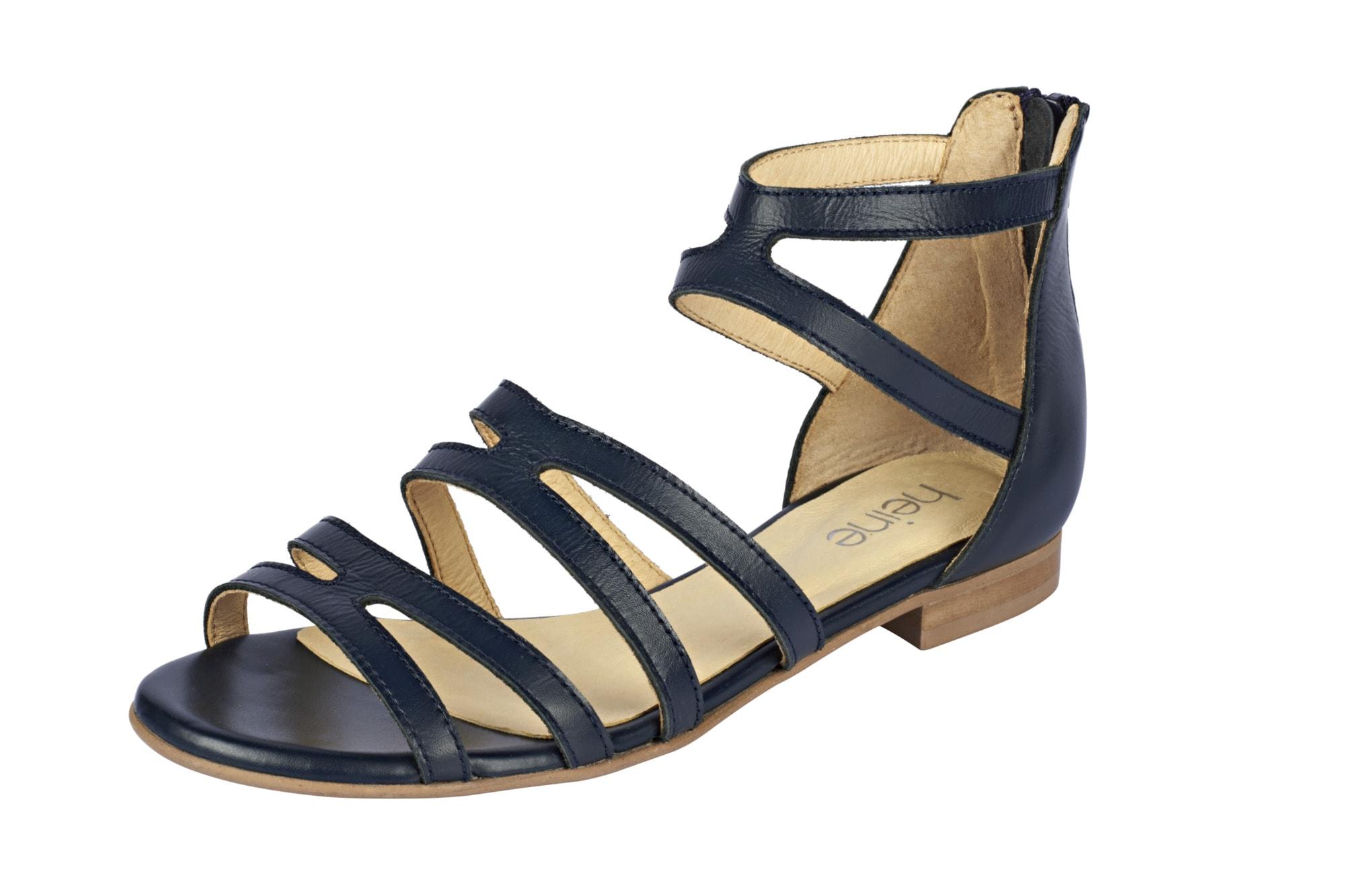 Sandalette mit Fesselriemchen Heine blau 35,36,37,38,39,40,41,42