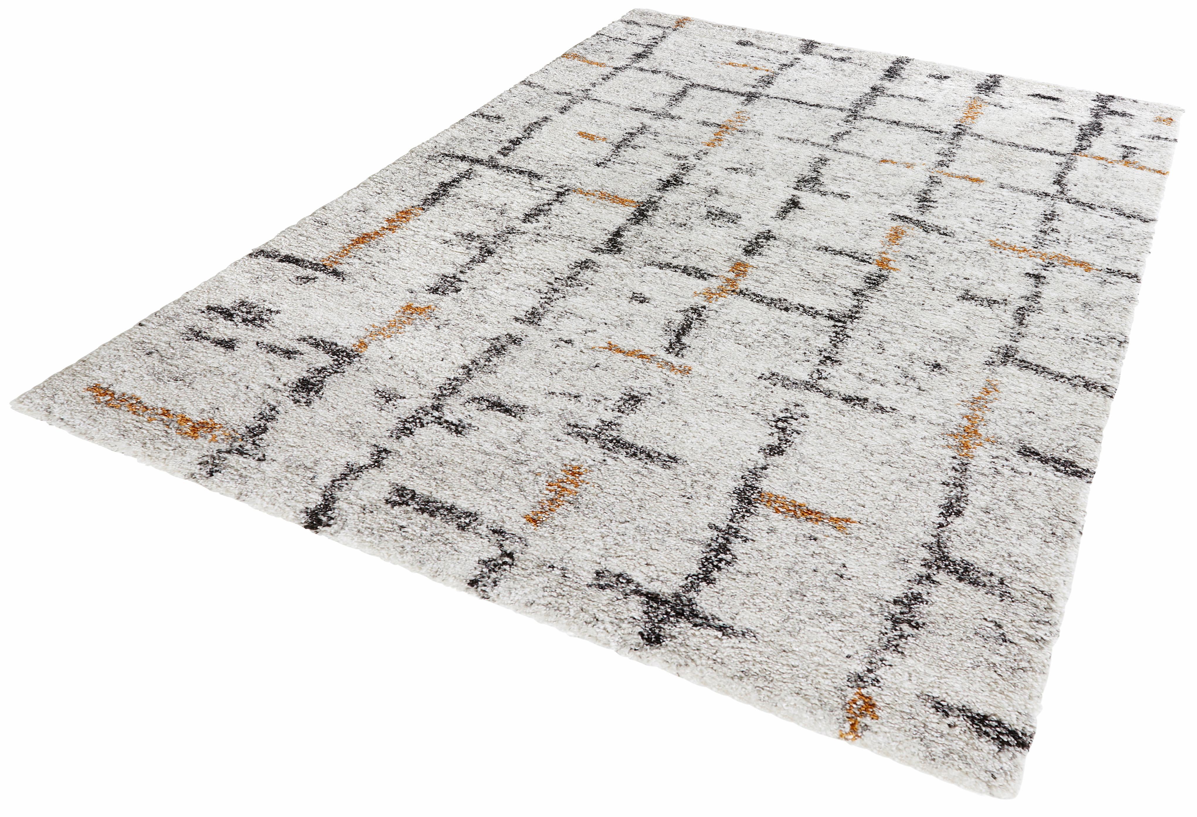 Hochflor-Teppich Grid MINT RUGS rechteckig Höhe 30 mm