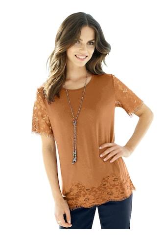 Fair Lady Shirt mit transparenter Spitze am Saum kaufen