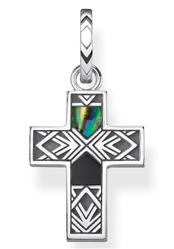 THOMAS SABO Kreuzanhänger »Kreuz Abalone Perlmutt, PE835-976-7«, mit Perlmutt und Onyx kaufen