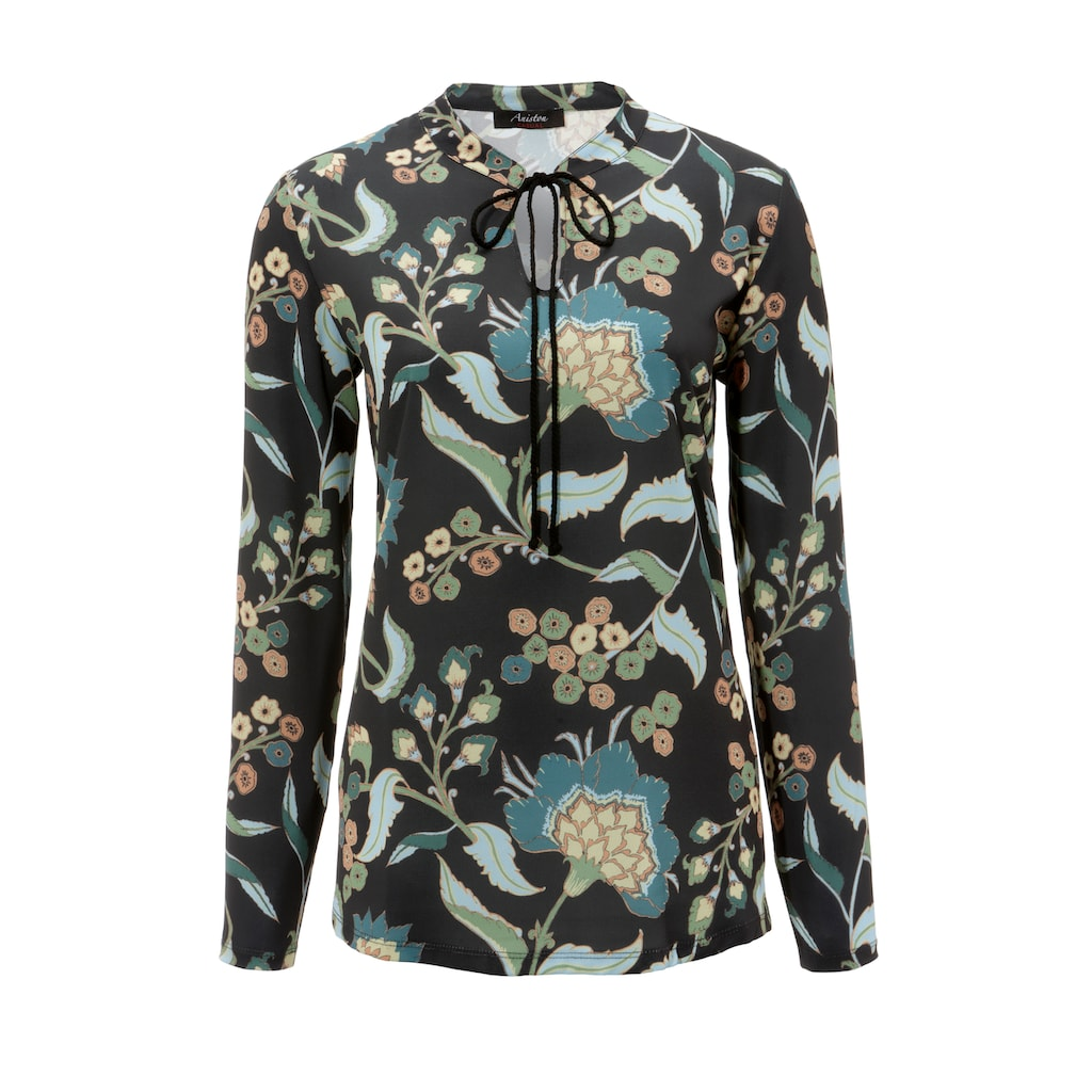 Aniston CASUAL Schlupfbluse, mit malerischem Blumendruck