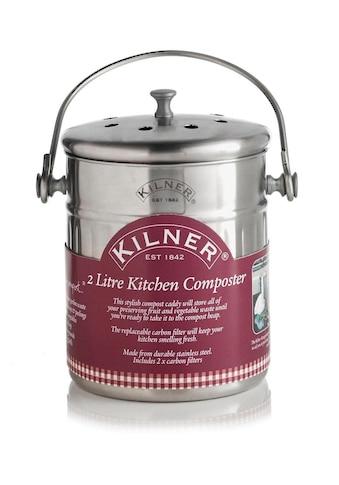 """KILNER Biomülleimer »""""Küchen-Komposter""""«, inkl. 2 Kohlefilter, 2 Liter kaufen"""