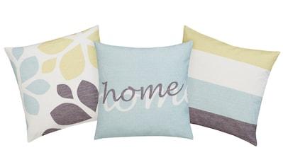 Home affaire Kissenhüllen »Mia«, (3 St., 3x 40x40cm), 3 verschiedene Designs in einem Set kaufen