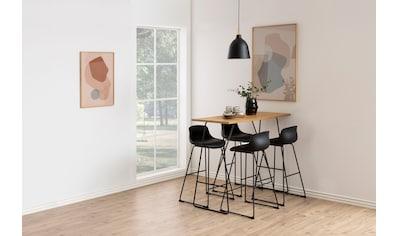 andas Bistrostuhl »Tina«, 2er Set, aus einem pflegeleichten Kunstleder Bezug, inklusive einer Fußstütze, Sitzhöhe 76 cm kaufen