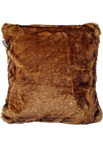 Schiesser Dekokissen »Fake Fur«, angenehm auf der Haut kaufen