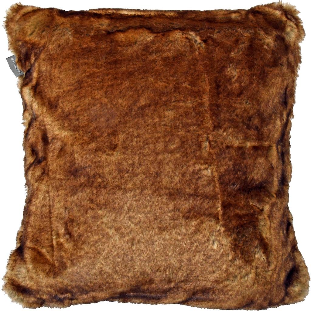 Schiesser Dekokissen »Fake Fur«, angenehm auf der Haut