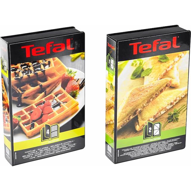 Tefal 2-in-1-Kombi-Waffeleisen Snack Collection SW852D, 700 Watt