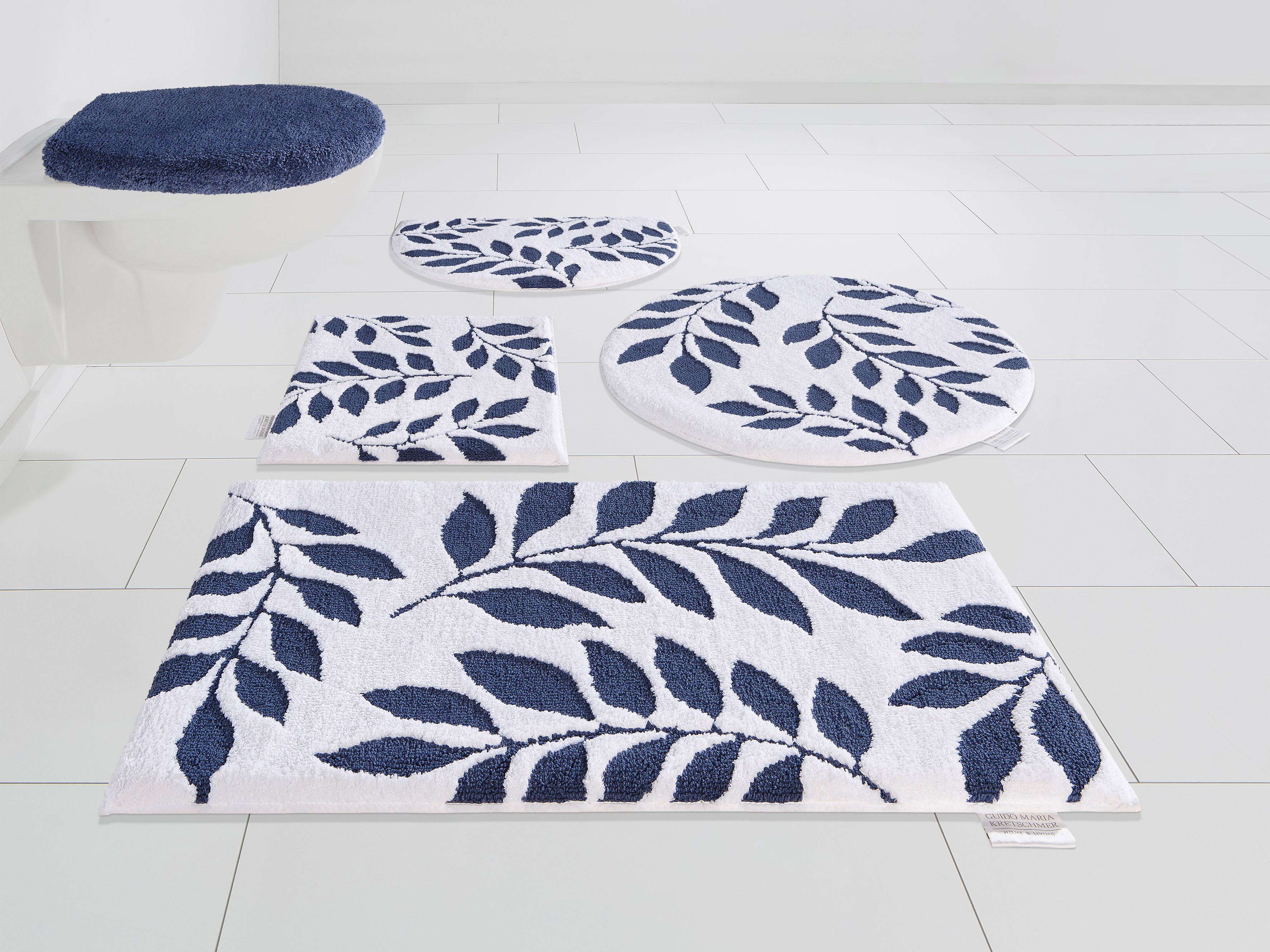 Badematte Blue Leaves Guido Maria Kretschmer Home&Living Höhe 10 mm rutschhemmend beschichtet