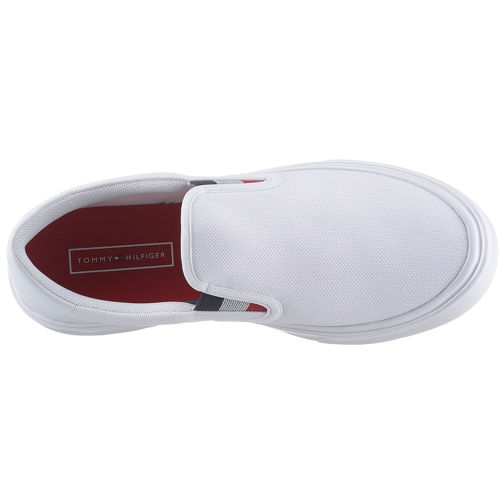 TOMMY HILFIGER Slip-On Sneaker »SLIP ON LIGHTWEIGHT KNIT SNEAKER SLIP ON«, mit Stretcheinsatz im Tommy Farben