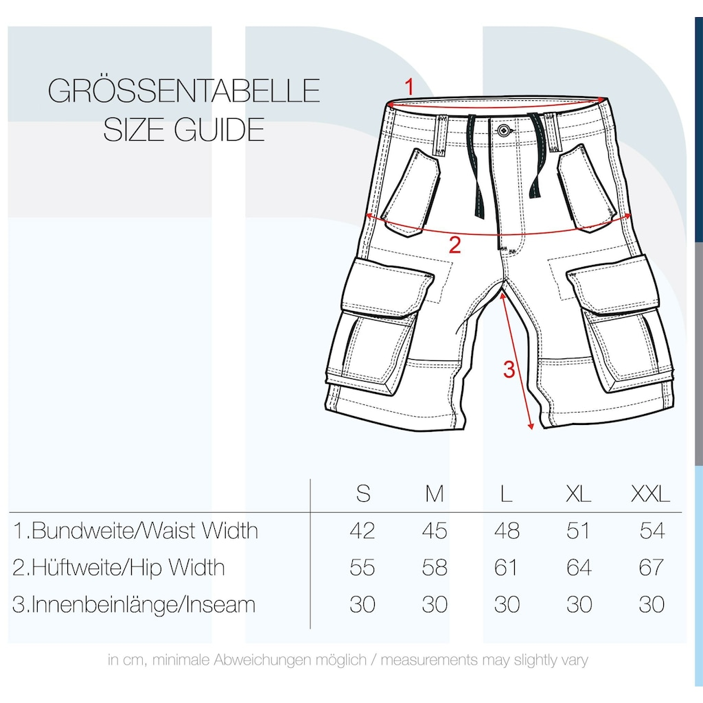 Solid Cargoshorts »Pombal«, kurze Hose mit knöpfbaren Seitentaschen