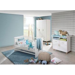 komplett babyzimmer potsdam babybett wickelkommode groer kleiderschrank 3 tlg