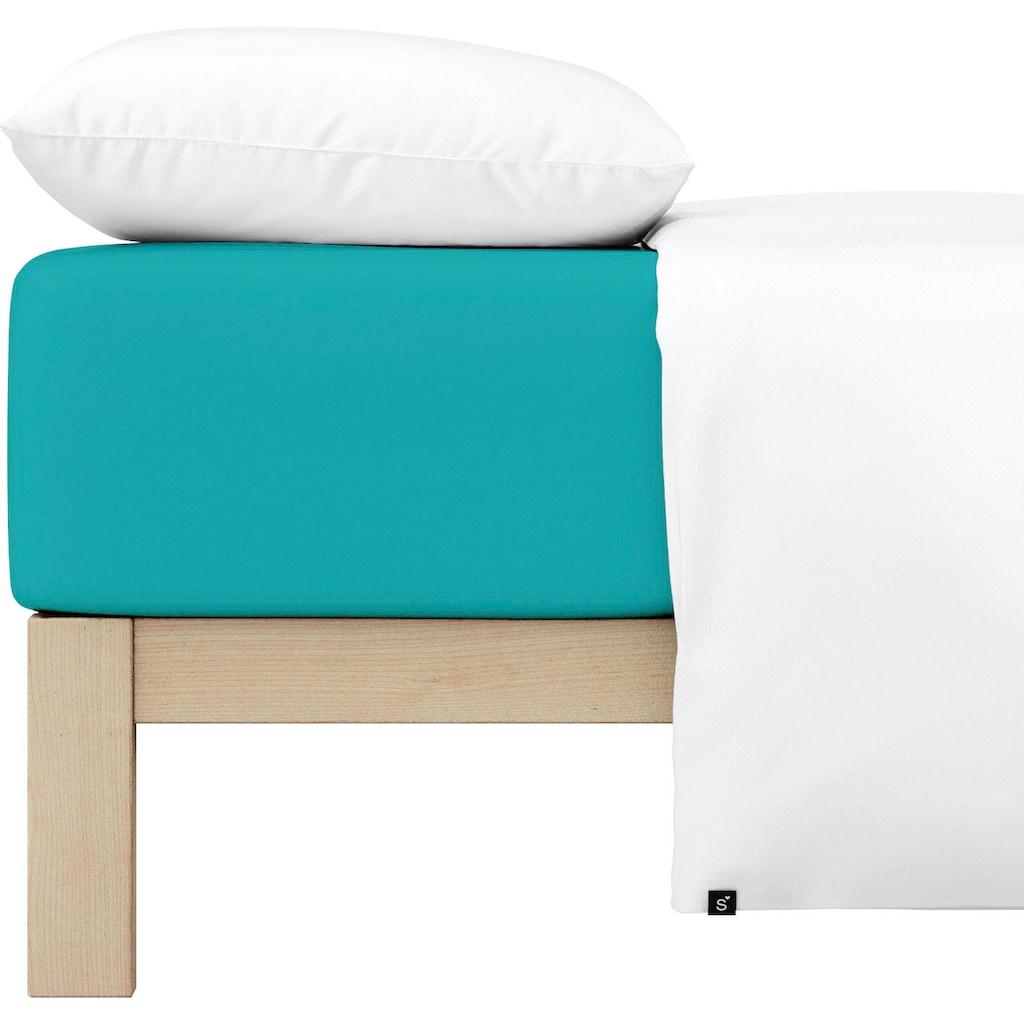 Schlafgut Spannbettlaken »Kinder Mako-Jersey«, aus 100 % Bio-Baumwolle