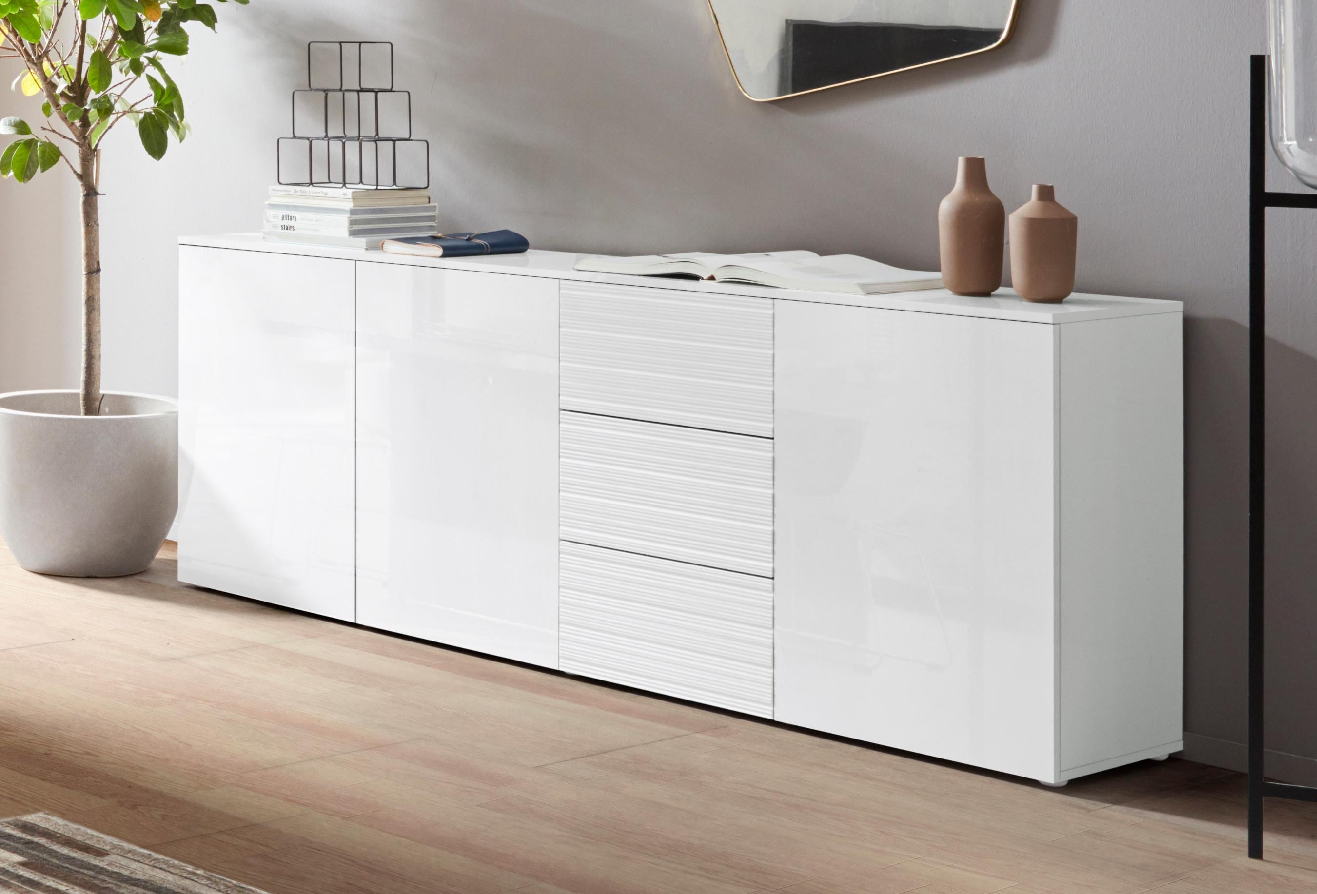 sideboard savannah breite 200 cm mtec metall. Black Bedroom Furniture Sets. Home Design Ideas