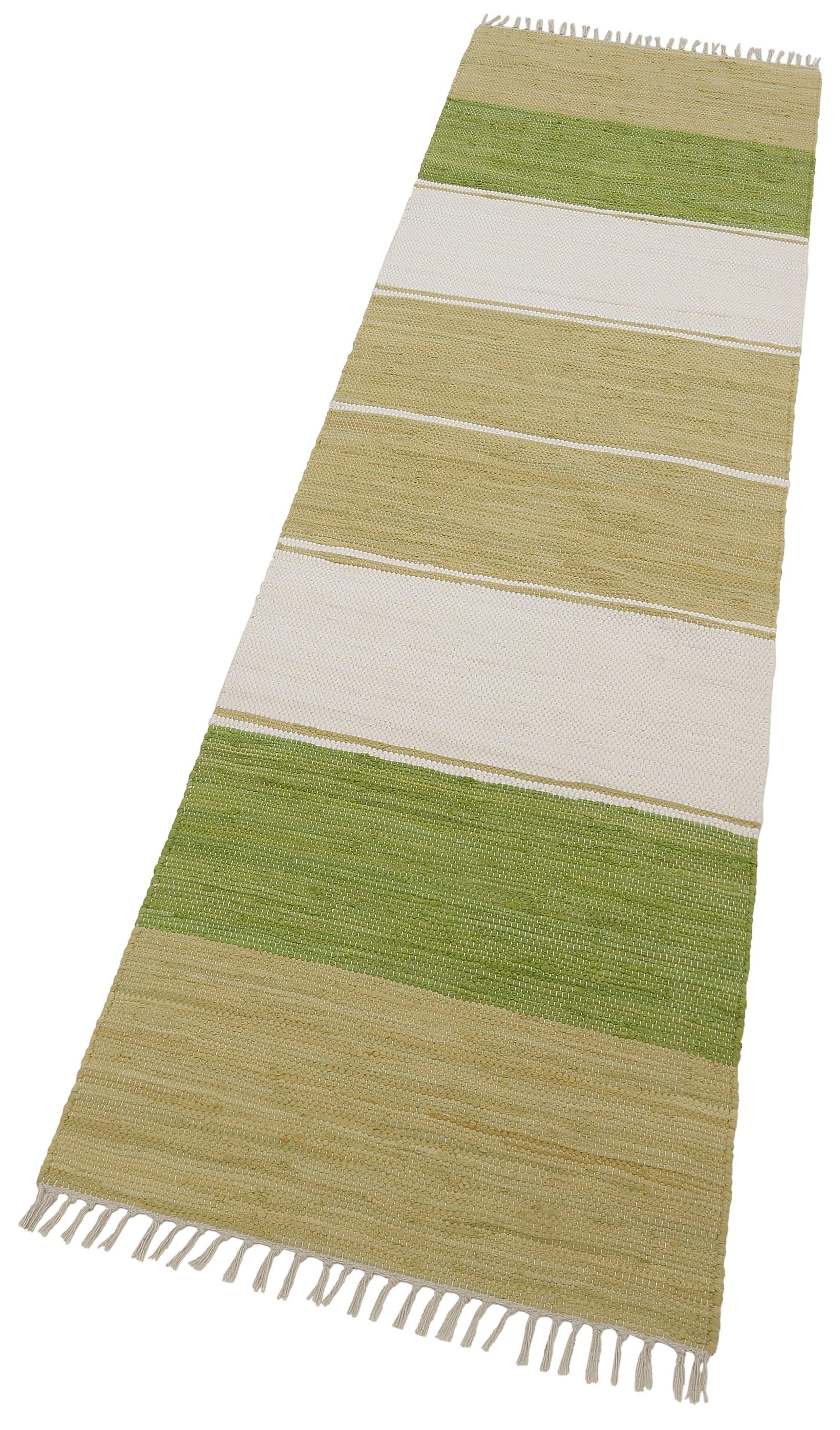 Läufer Stripe Cotton THEKO rechteckig Höhe 5 mm handgewebt