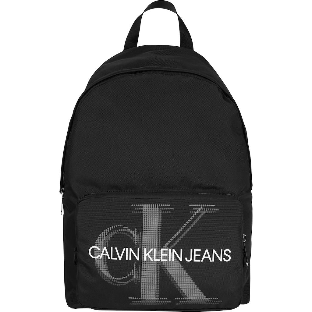 Calvin Klein Jeans Cityrucksack »CKJ SPORT ESSENTIALS CAMPUS BP 45 PIXEL«, mit großem Logo Schriftzug