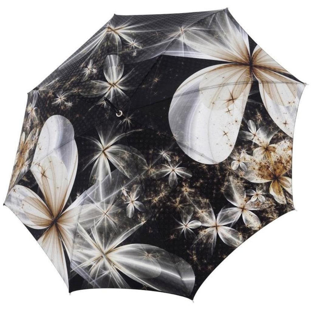 doppler MANUFAKTUR Stockregenschirm »Boheme, magnolia«, handgemachter Manufaktur-Stockschirm